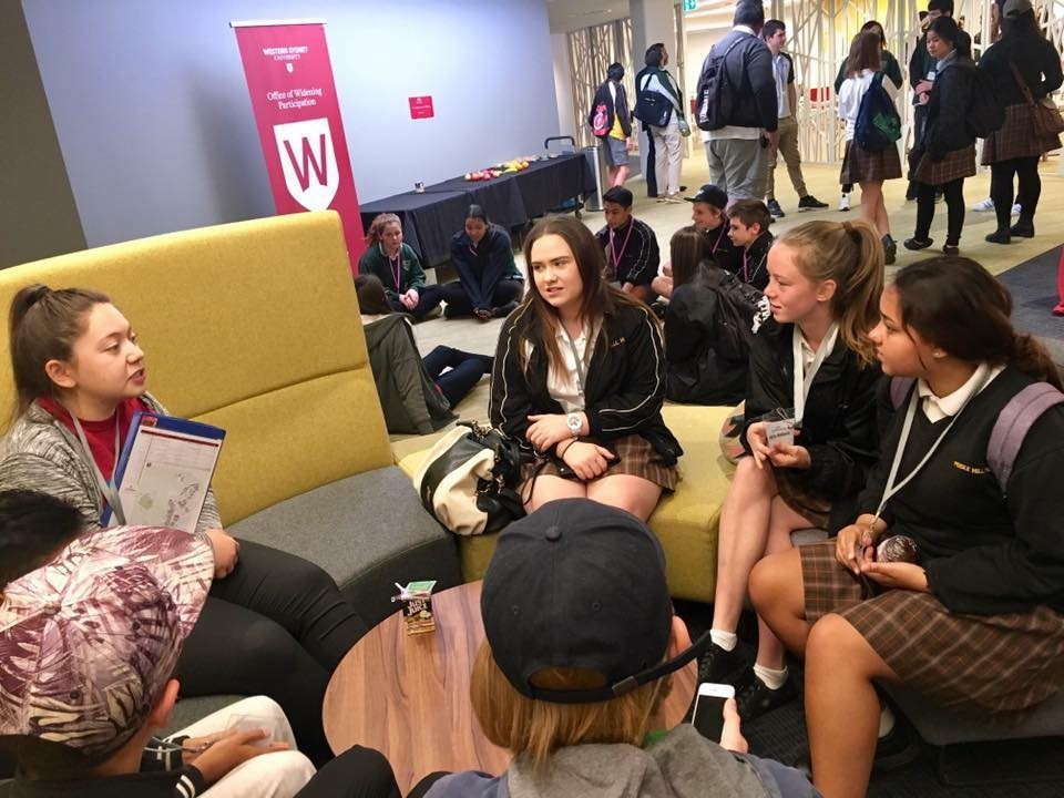 Students participate in a career information sessions at Western Sydney University (WSU)